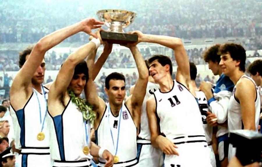 Αποτέλεσμα εικόνας για εθνικη ελλαδος μπασκετ 1987